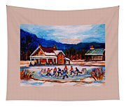 Pond Hockey Tapestry