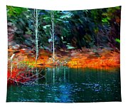 Pond In The Woods Tapestry