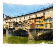 Ponte Vecchio Florence Italy Tapestry