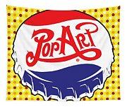 Pop Art Bottle Cap Tapestry