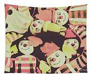 Pop Art Clown Circus Tapestry