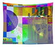 Pop-art Colorized One Hundred Euro Bill Tapestry