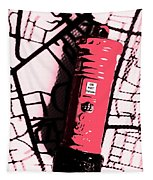 Pop Art Pillar Post Box Tapestry