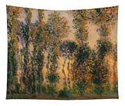 Poplars At Giverny - Sunrise Tapestry