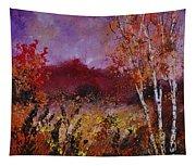 Poplars In Autumn  Tapestry