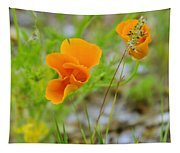 Poppies In The Wind Tapestry