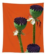 Poppies On Orange Tapestry
