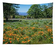 Poppies With A View At Oak Glen Tapestry