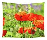 Poppy Garden Tapestry