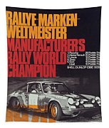 Porsche 1970 Rally World Champion Tapestry