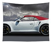 Porsche 911 Turbo S With Clouds Tapestry