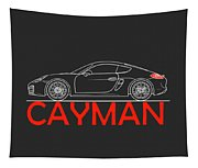 Porsche Cayman Phone Case Tapestry