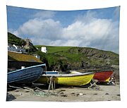 Port Isaac Boats Tapestry