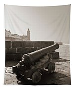 Porthleven Cannon Sepia Tapestry