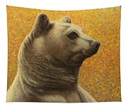 Portrait Of A Bear Tapestry