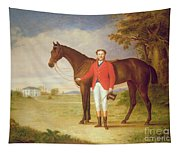 Portrait Of A Gentleman With His Horse Tapestry