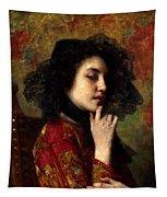 Portrait Of A Georgian Princess Tapestry