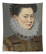 Portrait Of A Lady Head And Shoulders In A Lace Ruff Tapestry