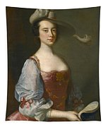 Portrait Of A Lady In Van Dyck Dress Tapestry