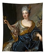 Portrait Of A Lady Three-quarter-length Holding Flowers Tapestry