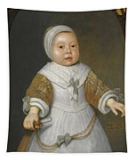Portrait Of A One-year-old Girl Of The Van Der Burch Family Three-quarter Length Tapestry