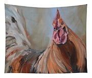 Portrait Of A Rooster Tapestry