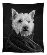 Portrait Of A Westie Dog Tapestry
