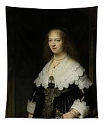 Portrait Of A Woman - Possibly Maria Trip Tapestry