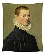 Portrait Of A Young Gentleman Head And Shoulders At The Age Of 23 Tapestry