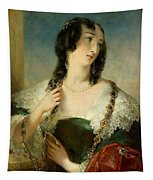 Portrait Of A Young Woman Tapestry