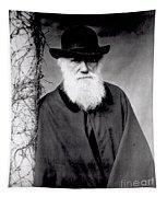 Portrait Of Charles Darwin Tapestry
