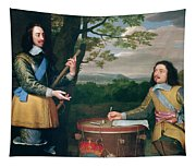 Portrait Of Charles I And Sir Edward Walker Tapestry