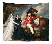 Portrait Of Colonel Fitch And His Sisters Tapestry