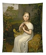 Portrait Of Countess Louise Bose As A Child Tapestry