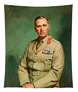 Portrait Of Lieutenant - General The Honorable Sir Edmund Herring Tapestry