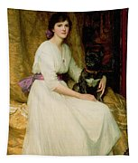 Portrait Of Miss Dorothy Dicksee  Tapestry
