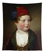 Portrait Of Prince Victor Odescalchi  In Greek Costume At The Age Of Five Tapestry