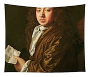 Portrait Of Samuel Pepys Tapestry