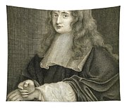 Portrait Of Sir Isaac Newton Tapestry