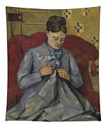 Portrait Of The Artist's Wife Tapestry