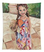 Portrait Painting Tapestry