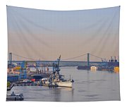 Ports Of Camden And Philadelphia Tapestry