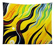 Positive Energy. Abstract Art Tapestry