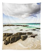 Postcard Perfect Ocean Background Tapestry