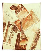 Postcards And Letters From The City Of Love Tapestry