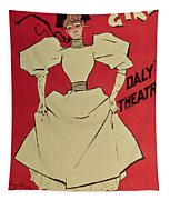 Poster Advertising A Gaiety Girl At The Dalys Theatre In Great Britain Tapestry