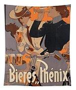 Poster Advertising Phenix Beer Tapestry by Adolf Hohenstein