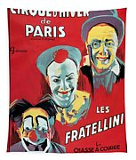 Poster Advertising The Fratellini Clowns Tapestry