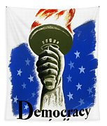 Poster: Democracy, C1940 Tapestry