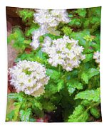 Potted Lantana Impression Tapestry